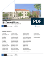 Presentation for MT. Pleasant Library Commission on Fine Arts Submission for Concept Approval held September 17