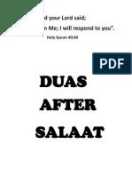 Supplications(Duas) after prayers