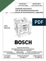 Bosch Pb10-CD Om