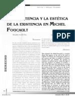 La Resistencia y La Estetica de La Existencia Michael Foucault Vol 4 Num2