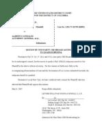 Alberto Gonzales Files - 2007-05-08 cbs motion & memo doc medialaw org-cbs