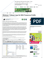 Windows 7 Always Logs on With Temporary Profile - Windows 7 - Tutorials