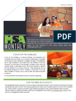 MSA Monthly March Edition