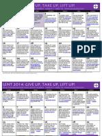 Lent 2014 Calendar