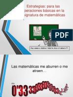 ESTRATEGIAS DIDAGTICAS MATEMATICAS