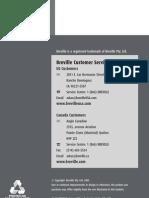 Breville SK500XL Manual