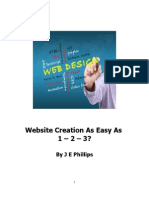Website Creation as Easy as 1 - 2 - 3