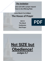 Not SIze but Obedience