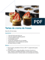Tartas de Crema de Fresas