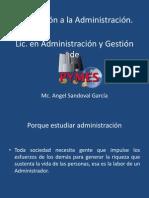 Introducción a la Administración UPETX