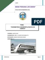 Capitulo i Hidrologia Parametros Geomorfologicos de La Cuenca.