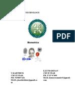 Image processing domain in biometrics