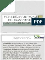 Viscosidad y Mecanismo Del Transporte de Cantidad De