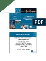 Schiff GMP Compliance Key Points