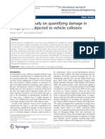 A simulation study on quantifying damage in