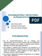 exposición de detectores y portamuestras - análisis quimico II