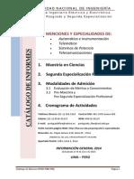 Maestrias y Especializaciones UNI