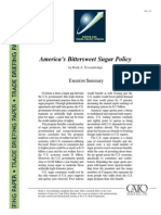 America's Bittersweet Sugar Policy, Cato Trade Briefing Paper No. 13