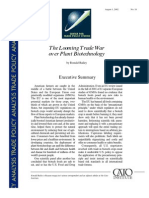 The Looming Trade War over Plant Biotechnology, Cato Trade Policy Analysis No. 18