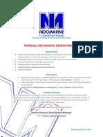 Vacancies_Thermal Engineer_Indonesian Marine, PT