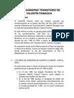 Informe Gobierno Transitorio Devalentin Paniagua
