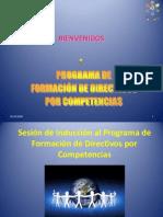 Sesión de Inducción al Programa de Formación de Directivos por Competencias