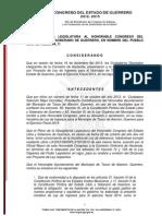 Ley No. 418 de Ingresos Mpio. de Taxco de Alarcon 2014