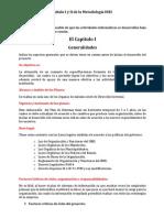 Comente sobre el Capítulo I y II de la Metodología INEI