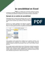 Análisis de sensibilidad en Excel