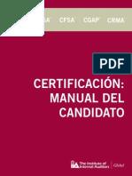 Certification Candidato a Certificacion Incluye Cambios 2013