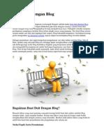 Buat Duit Dengan Blog