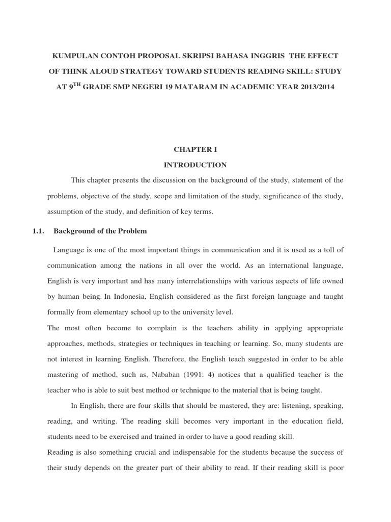 Contoh proposal skripsi sastra inggris.