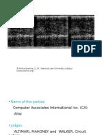 Computer Associates vs Altai Inc PPT