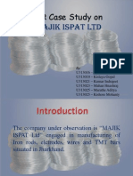 HR Case Study on MAJIK ISPAT Ltd