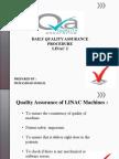 QA of LINAC machines