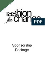 sponsorship packsage 2013