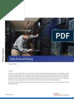 Data Archival Testing