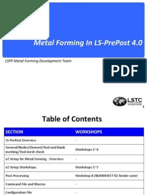 LS-PrePost Forming Aug1st | Macro (Computer Science