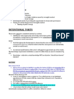 Tort Law Outline