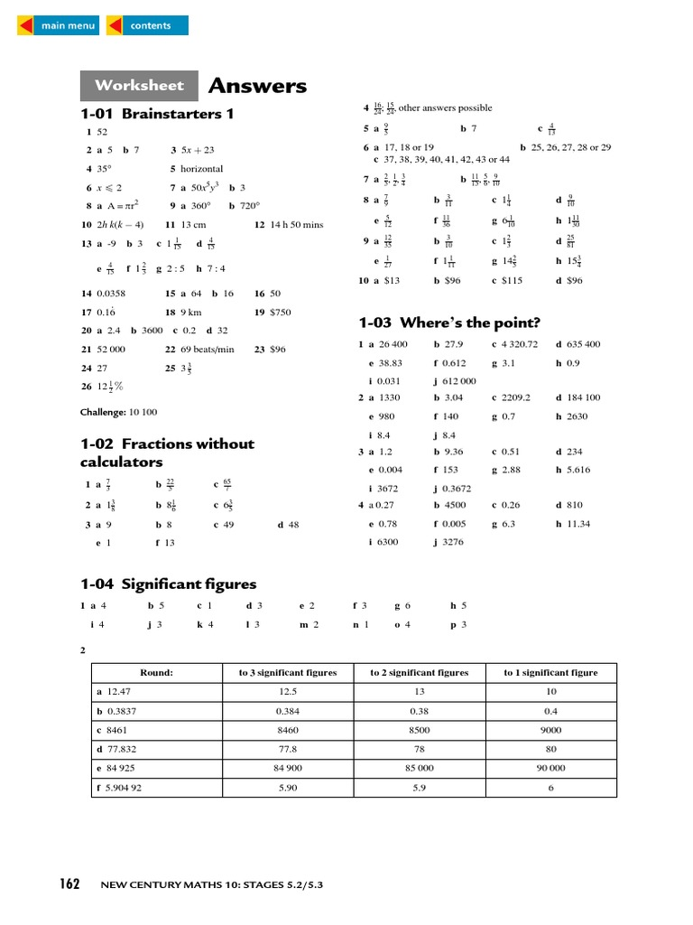 WORKSHEET ANSWERS FOR NEW CENTURY MATHS Rectangle – Axis of Symmetry Worksheet
