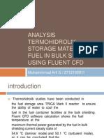 Analysis Termohidrolik Storage Material