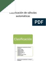 Clasificación de válvulas automáticas