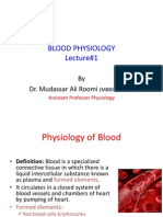 Lecture 1 Blood Physiology by Dr. Roomi