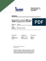 IDE-0088 Descripcion Campos MIB Gestion SNMP Equipamiento TELNET Rev2