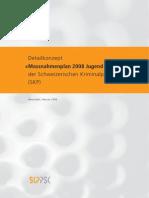Detailkonzept «Massnahmenplan 2008 Jugend und Gewalt» der Schweizerischen Kriminalprävention