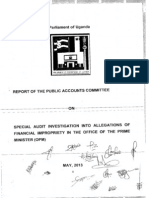 PAC Special Audit Investigation Into Allegations of Financial Impropriety in the OPM 2