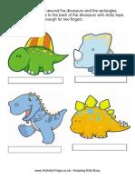 Dinosaur Finger Puppets 1