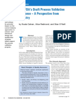 Industry Perspective FDA Draft Validation