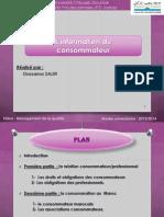 Information du consommateur (Exposé final)