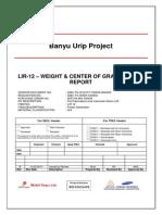 IDBC-TS-VCSTR-T100639-NG0028 - LIR-12– WEIGHT CONTROL REPORT